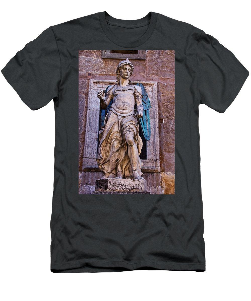 Archangel Men's T-Shirt (Athletic Fit) featuring the photograph Archangel Michael by David Pringle