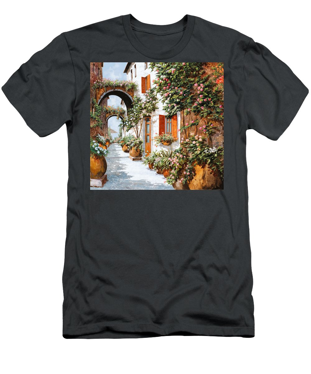 Arches Men's T-Shirt (Athletic Fit) featuring the painting Archi E Orci by Guido Borelli