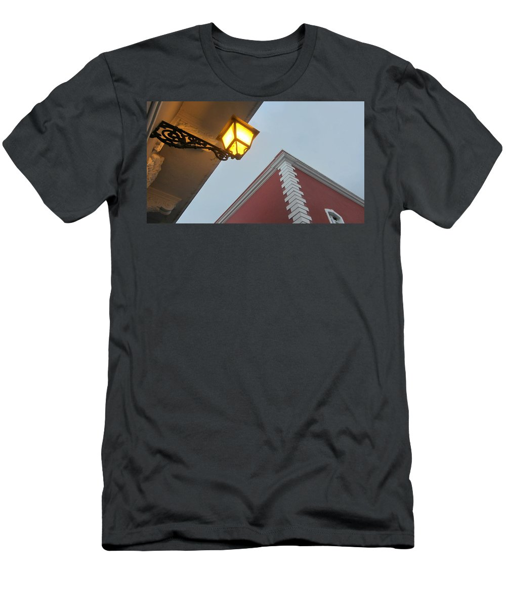Architecture Men's T-Shirt (Athletic Fit) featuring the photograph Architecture And Lantern 3 by Anita Burgermeister