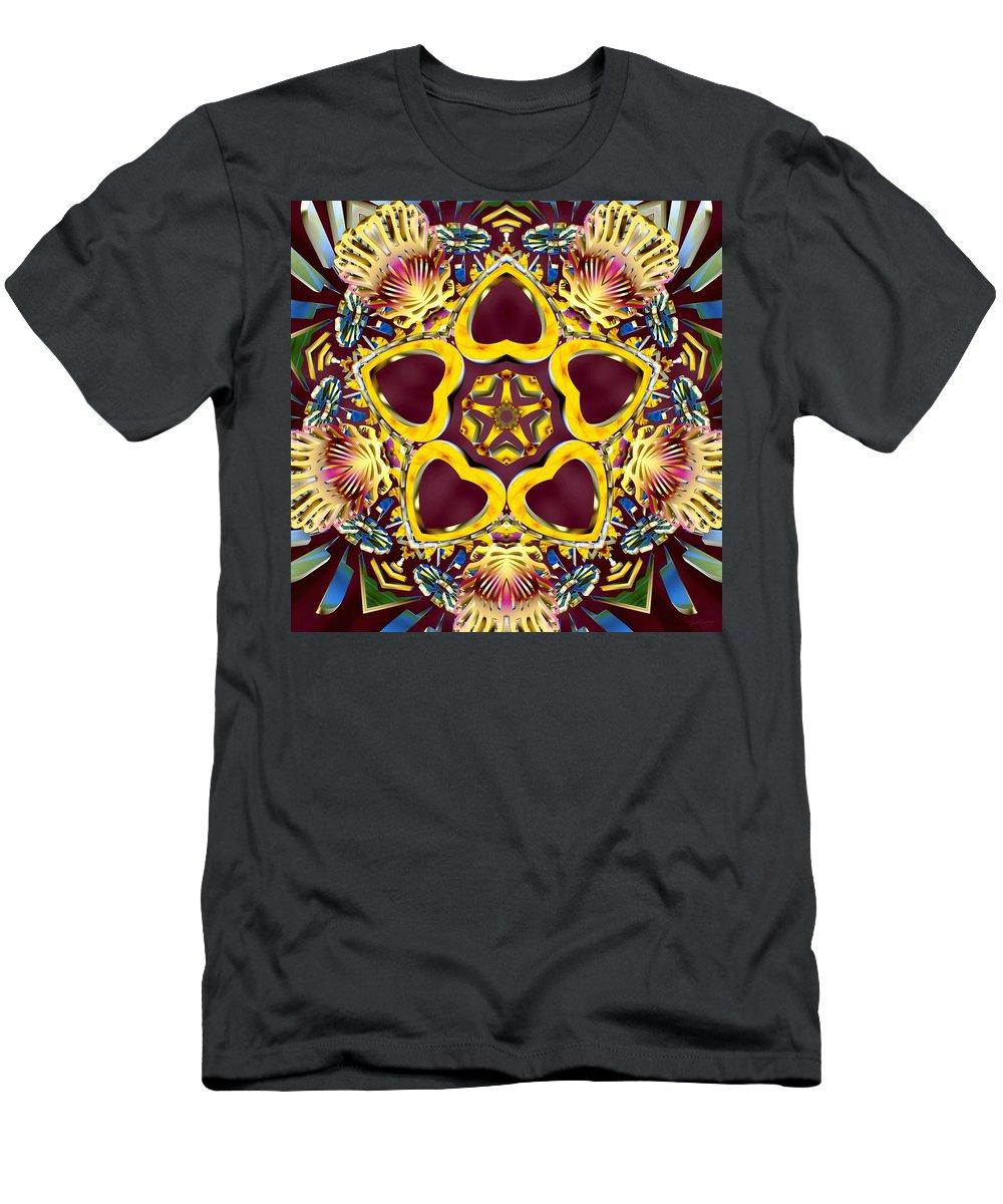 Sacredlife Mandalas Men's T-Shirt (Athletic Fit) featuring the digital art Arcturian Starseed by Derek Gedney