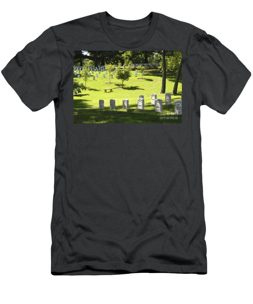 Arlington Men's T-Shirt (Athletic Fit) featuring the photograph Arlington National Cemetery - 540 by Paul W Faust - Impressions of Light