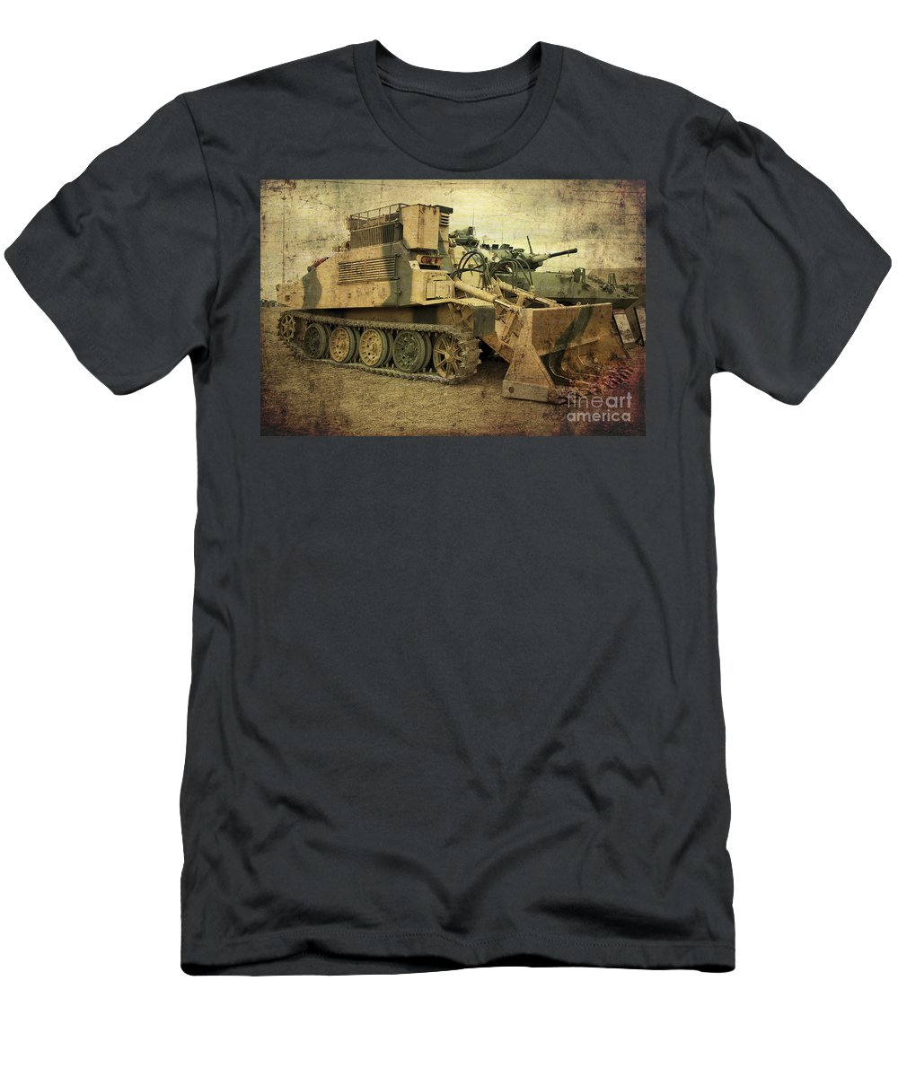 Army Men's T-Shirt (Athletic Fit) featuring the photograph Armoured Power by Rob Hawkins