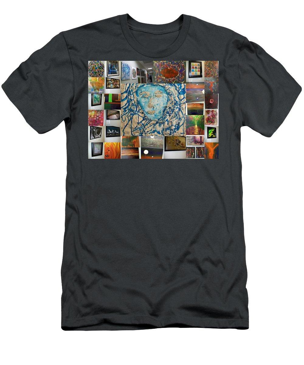 Art Men's T-Shirt (Athletic Fit) featuring the photograph Art At Supeme Lending by Laurette Escobar