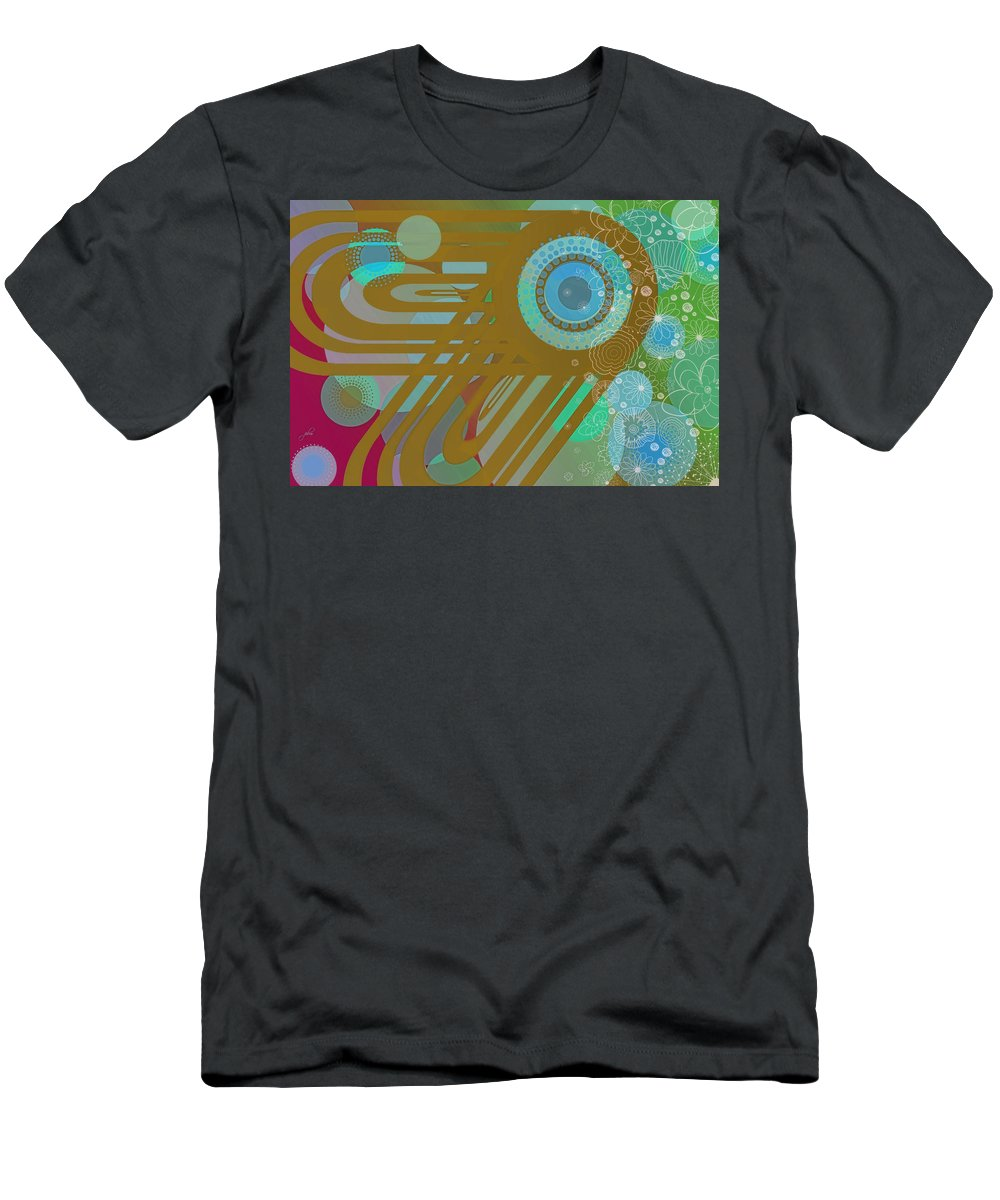 Wright Men's T-Shirt (Athletic Fit) featuring the digital art Art Deco Explosion 4 by Paulette B Wright