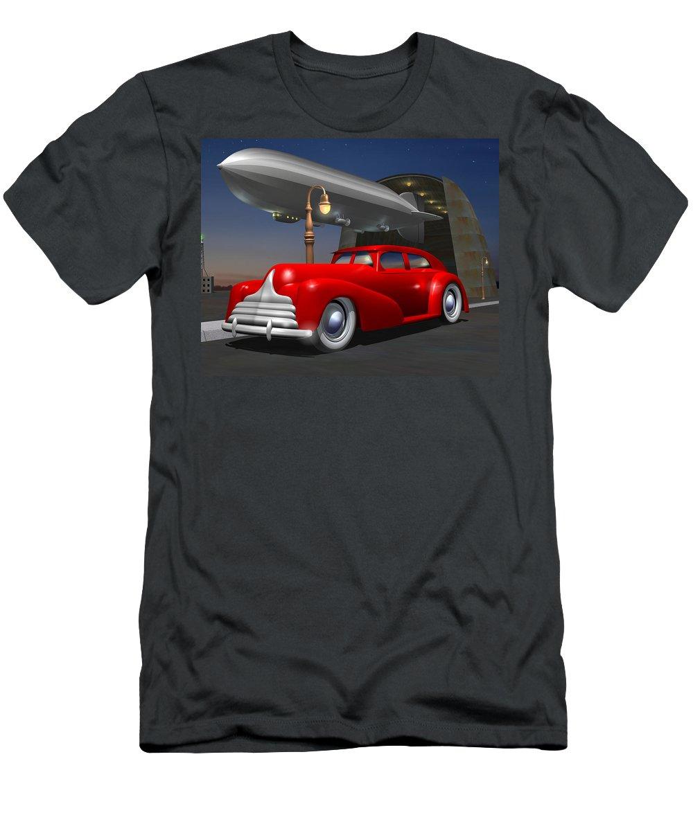 Car Men's T-Shirt (Athletic Fit) featuring the digital art Art Deco Sedan by Stuart Swartz