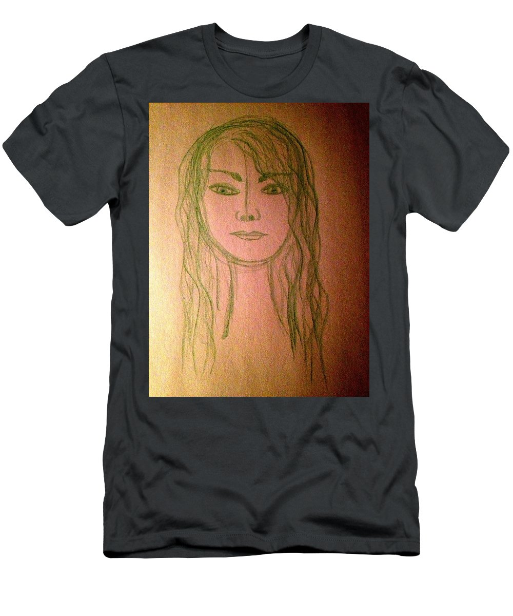 Self Portrait Men's T-Shirt (Athletic Fit) featuring the photograph Art Therapy 190 by Michele Monk