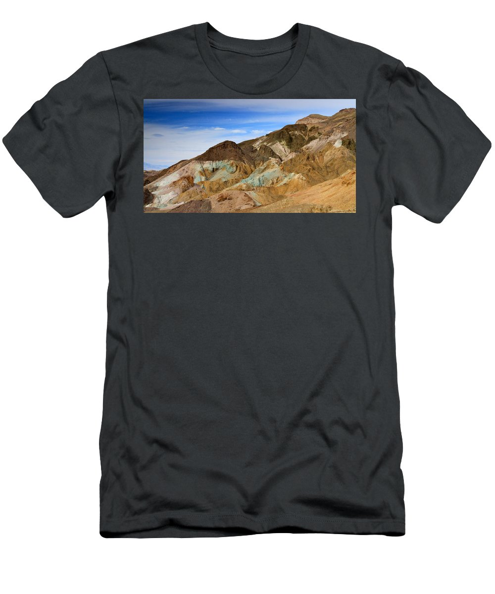 California Men's T-Shirt (Athletic Fit) featuring the photograph Artists Palette Death Valley National Park by Ed Riche