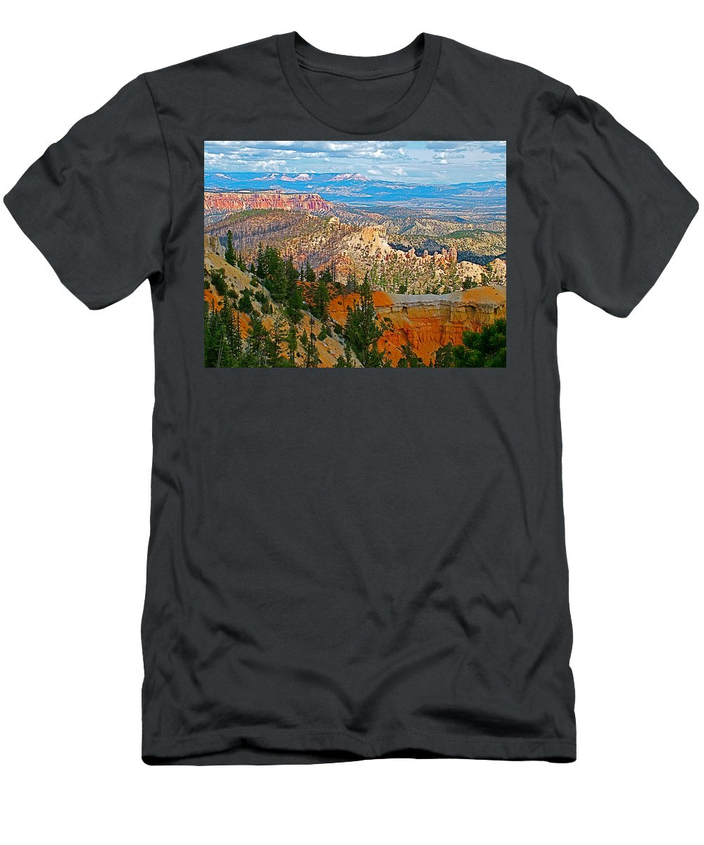 As Far As The Eye Can See From Farview Point In Bryce Canyon Men's T-Shirt (Athletic Fit) featuring the photograph As Far As The Eye Can See From Farview Point In Bryce Canyon-utah  by Ruth Hager