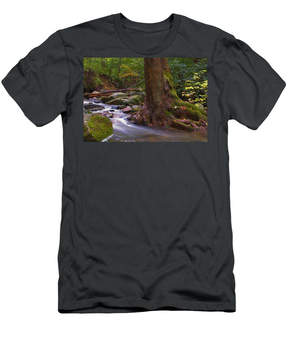 River Men's T-Shirt (Athletic Fit) featuring the photograph As The River Runs by Karol Livote