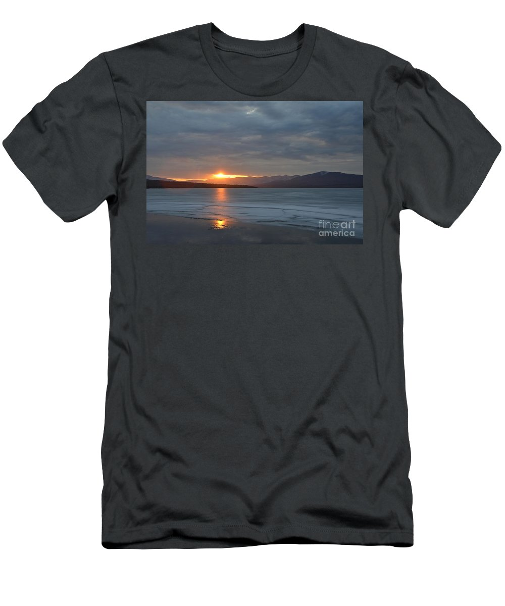 Water Men's T-Shirt (Athletic Fit) featuring the photograph Ashokan Reservoir 34 by Cassie Marie Photography