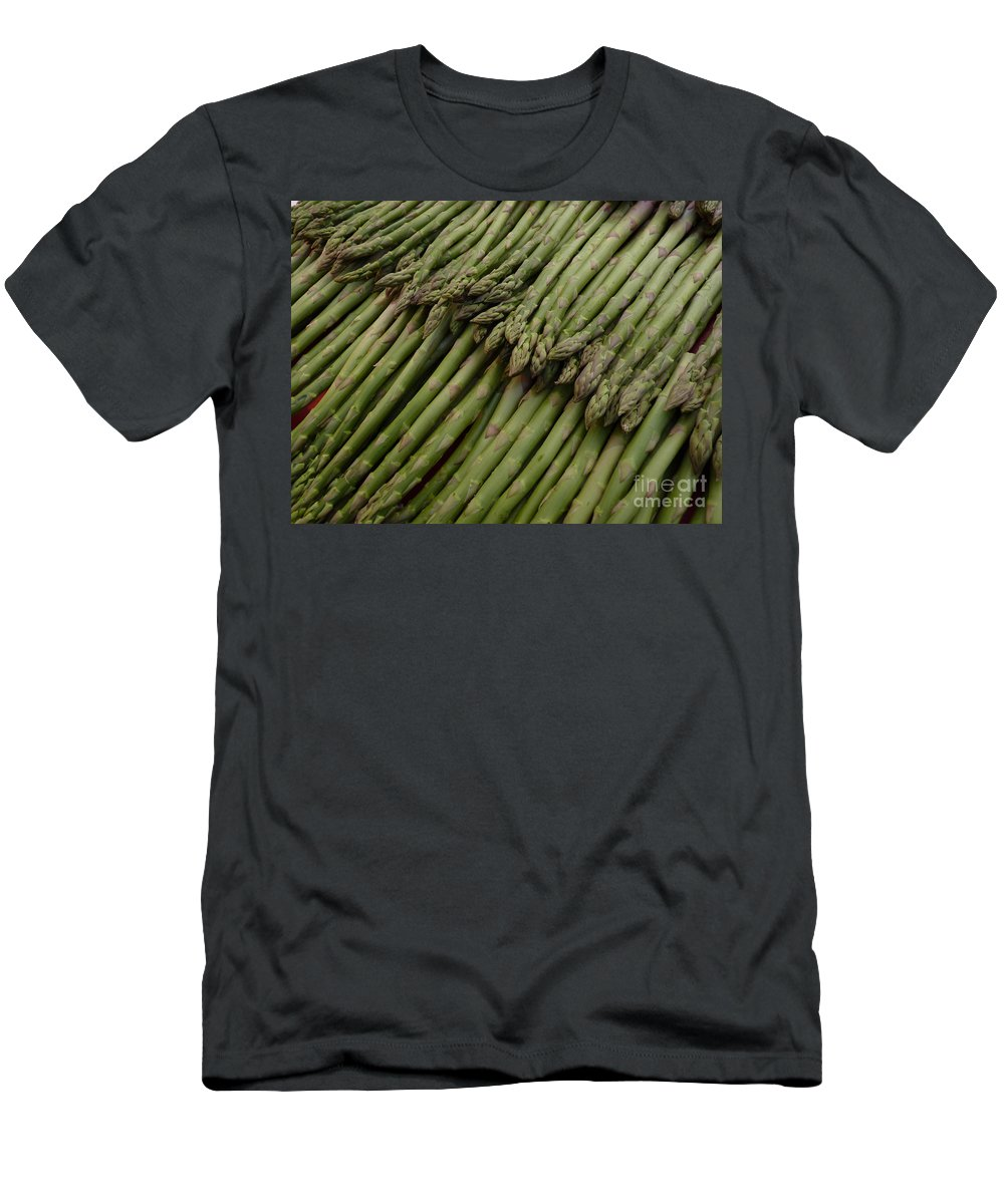 Asparagus Men's T-Shirt (Athletic Fit) featuring the photograph Asparagus by Kerstin Ivarsson