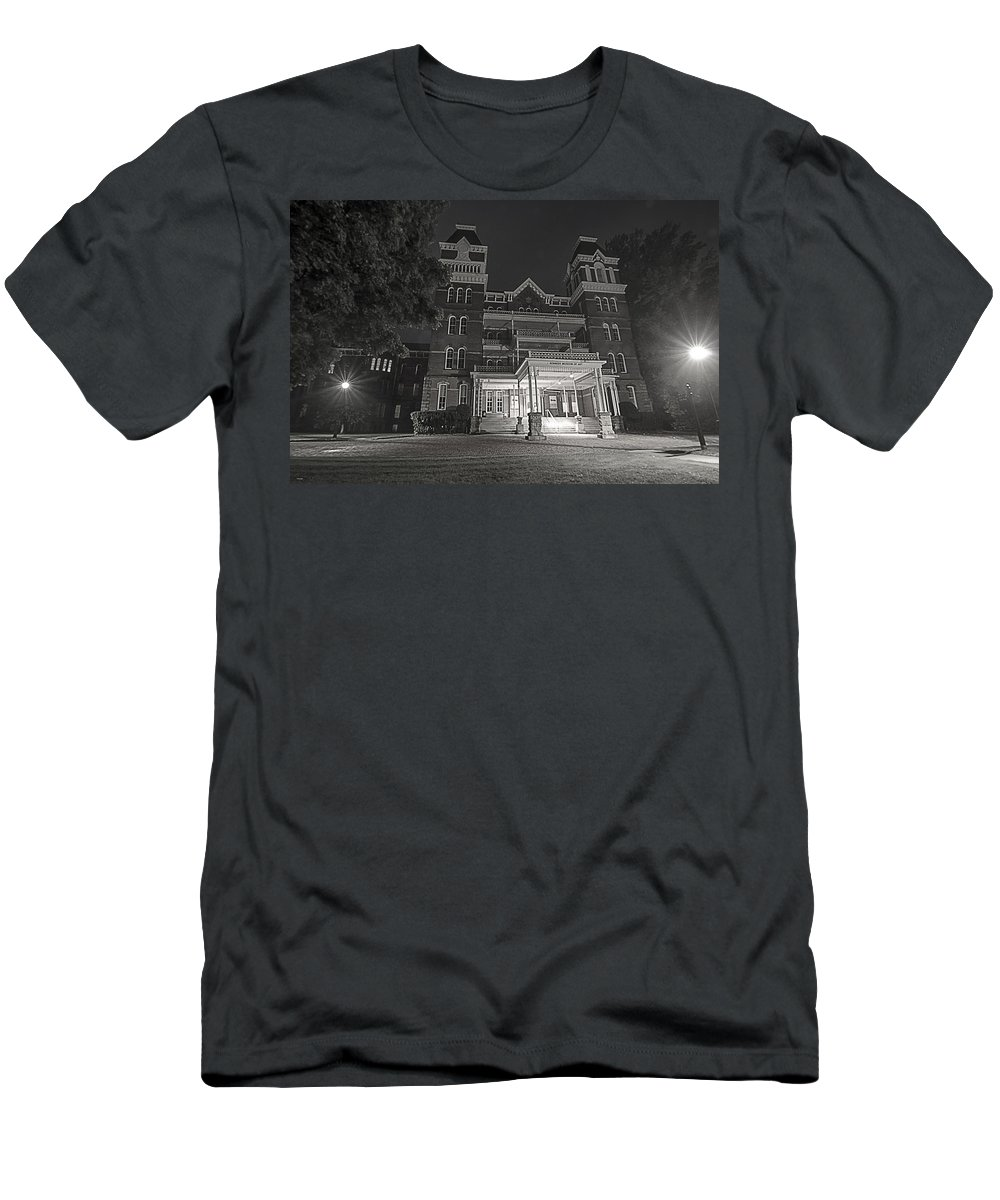 Asylum Men's T-Shirt (Athletic Fit) featuring the photograph Asylum In The Dark by Shirley Tinkham