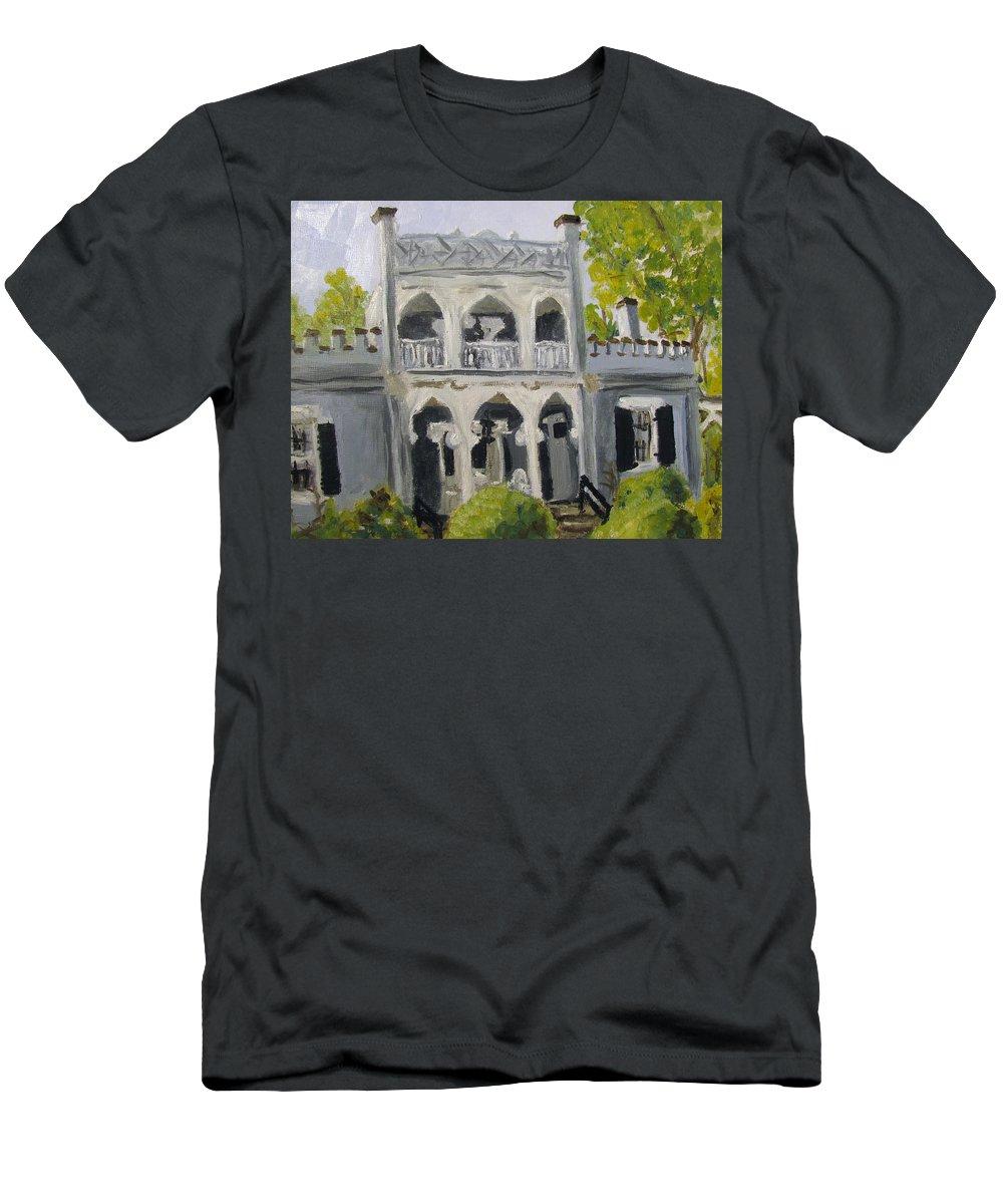 Columbia Men's T-Shirt (Athletic Fit) featuring the painting Athenaeum by Susan Elizabeth Jones