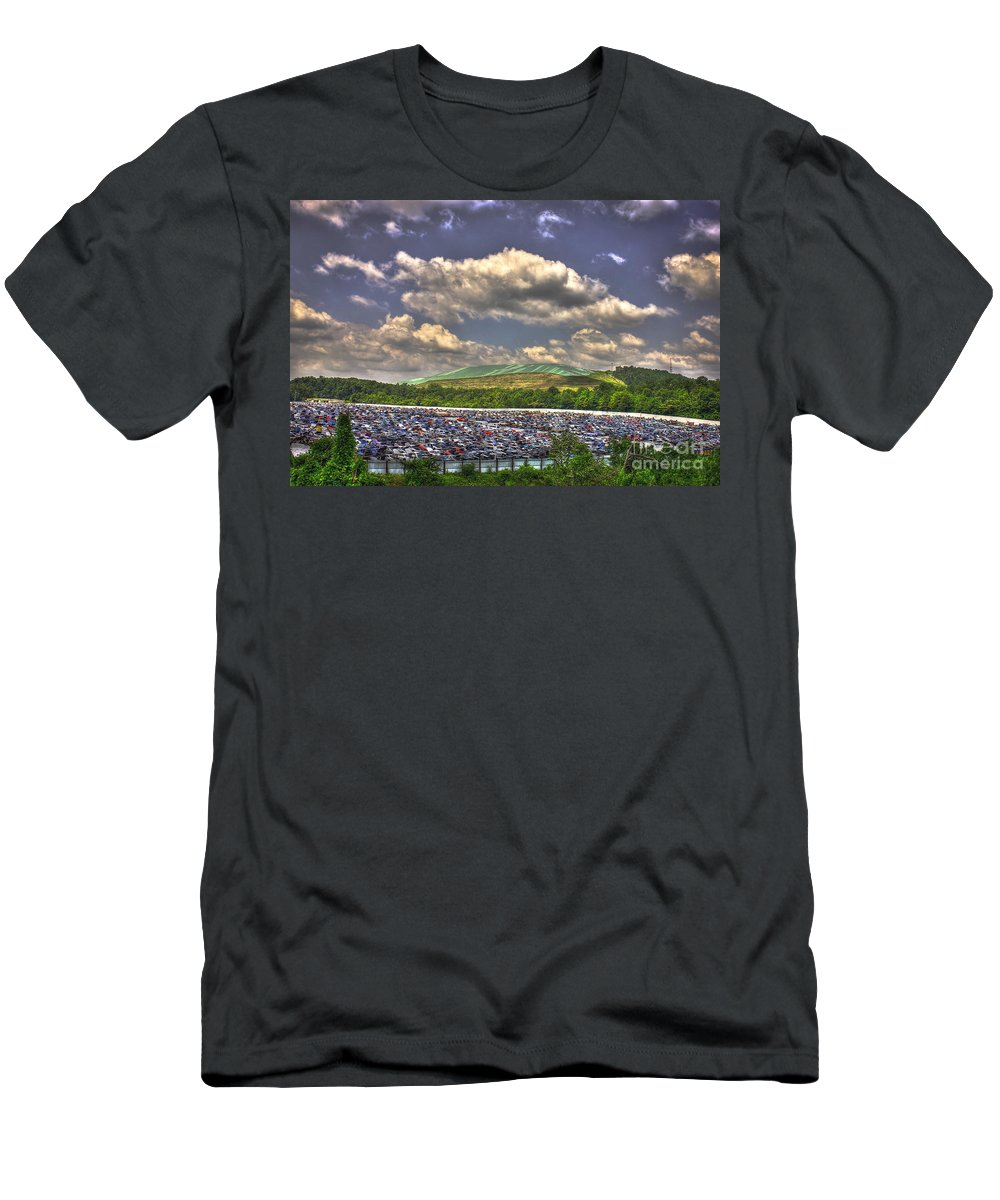Environmental Trash Men's T-Shirt (Athletic Fit) featuring the photograph Atlanta Leftovers by Reid Callaway