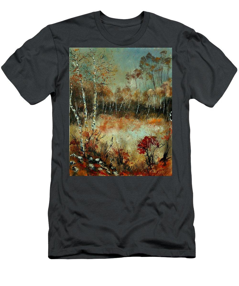 Landscape T-Shirt featuring the painting Autumn 452111 by Pol Ledent
