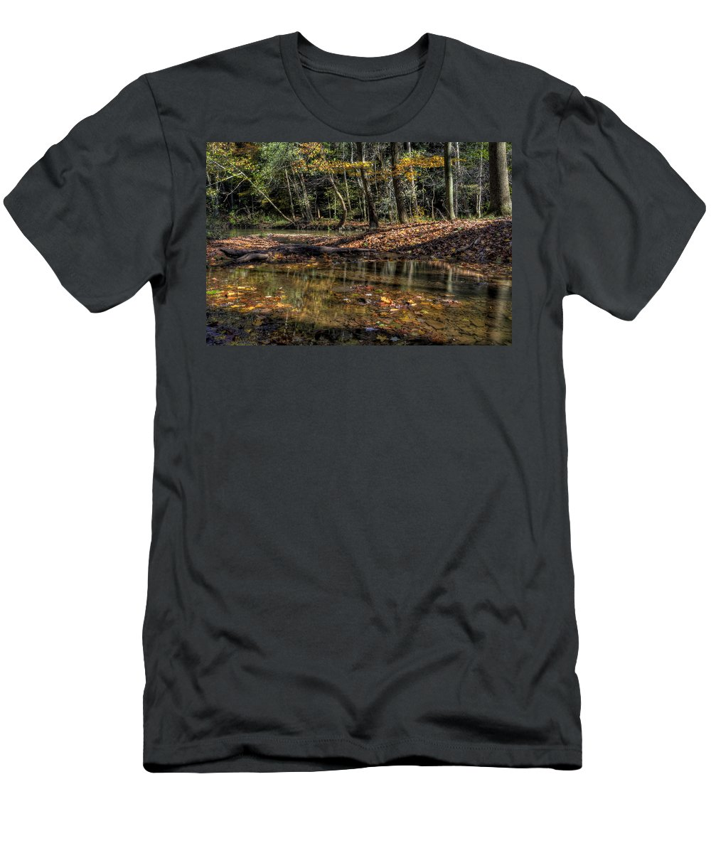 Autumn Men's T-Shirt (Athletic Fit) featuring the photograph Autumn Beauty Scene by David Dufresne