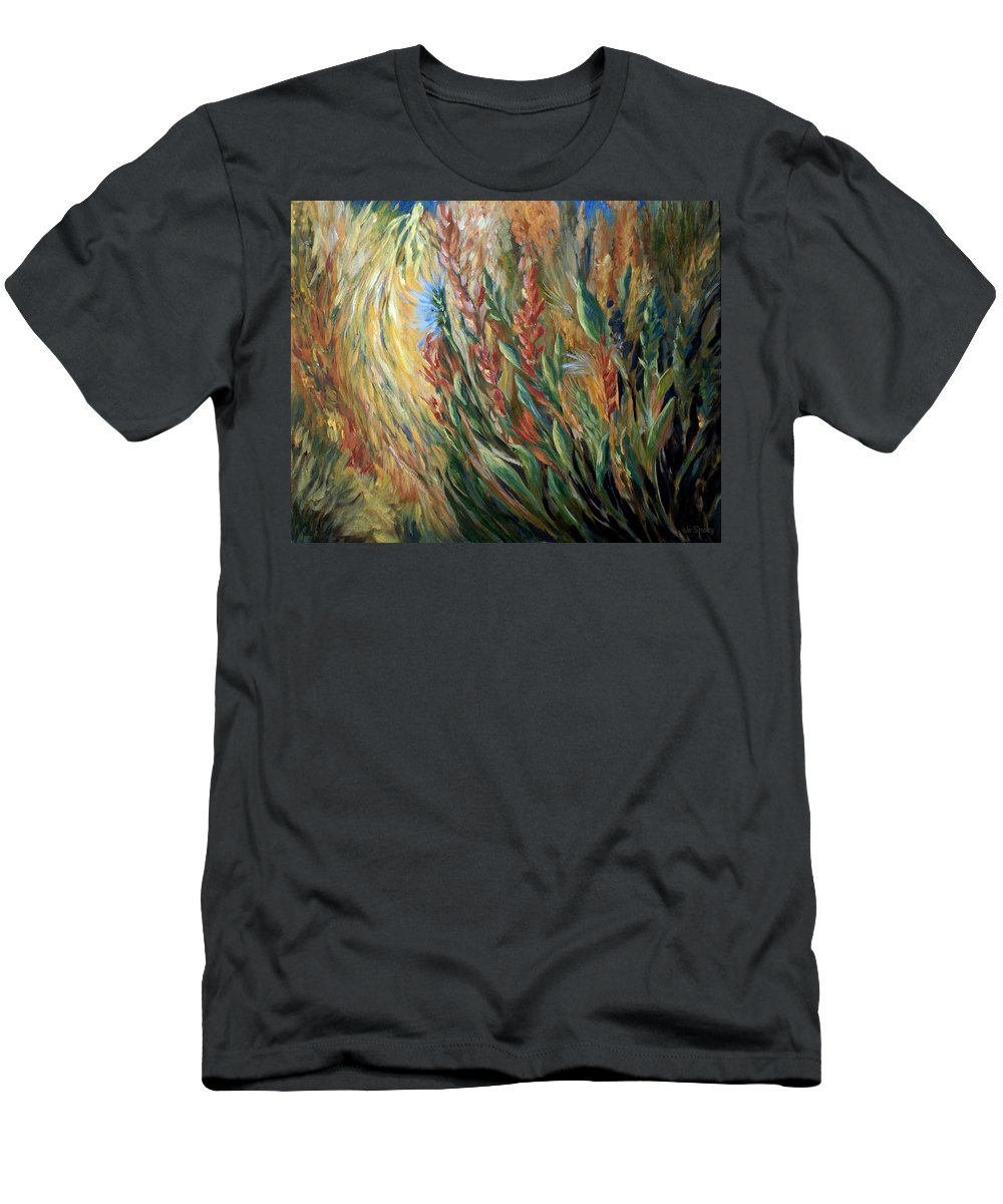 Autumn Floral Blooms Men's T-Shirt (Athletic Fit) featuring the painting Autumn Bloom by Joanne Smoley