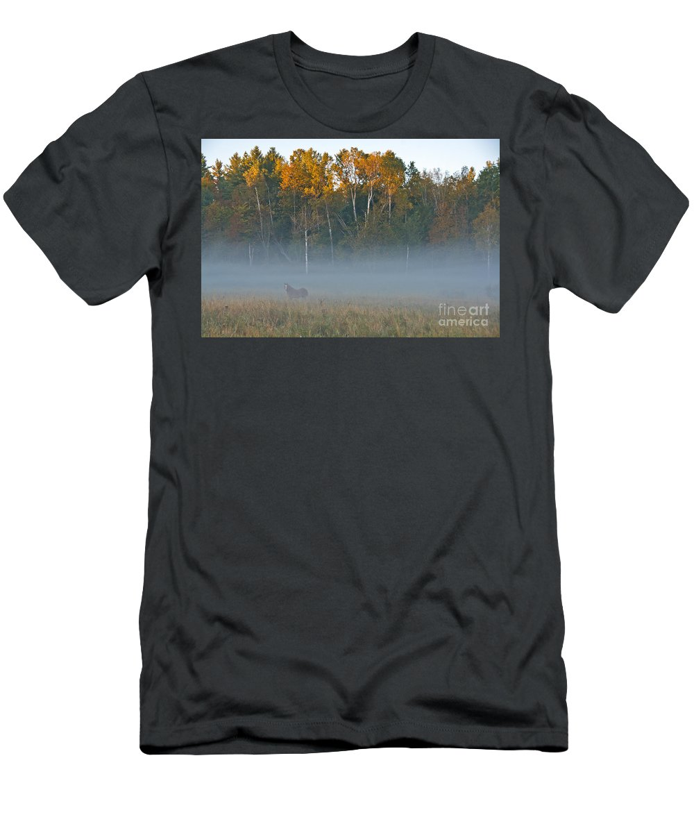 Men's T-Shirt (Athletic Fit) featuring the photograph Autumn Mist by Cheryl Baxter