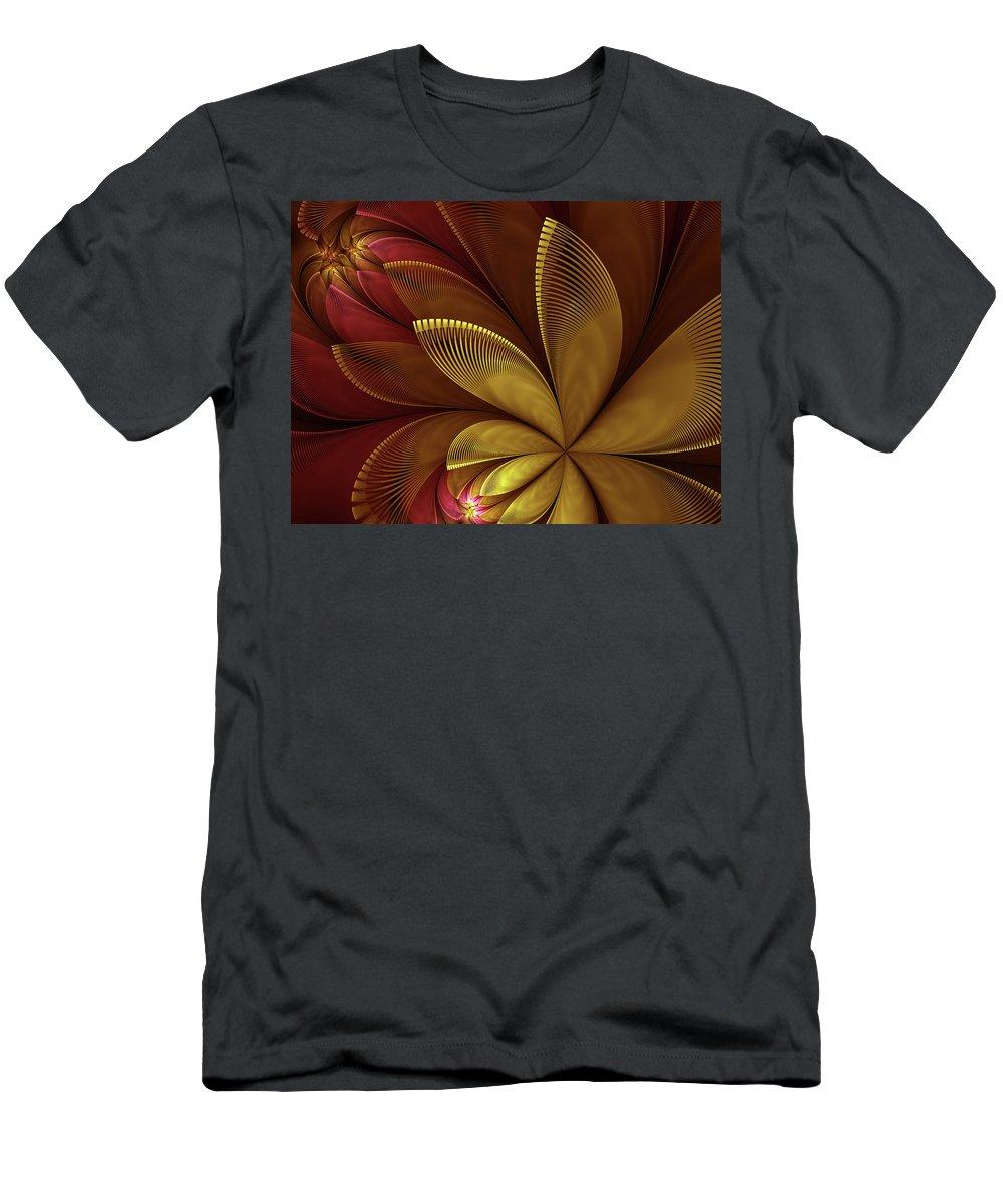 Flower Men's T-Shirt (Athletic Fit) featuring the digital art Autumn Plant by Gabiw Art
