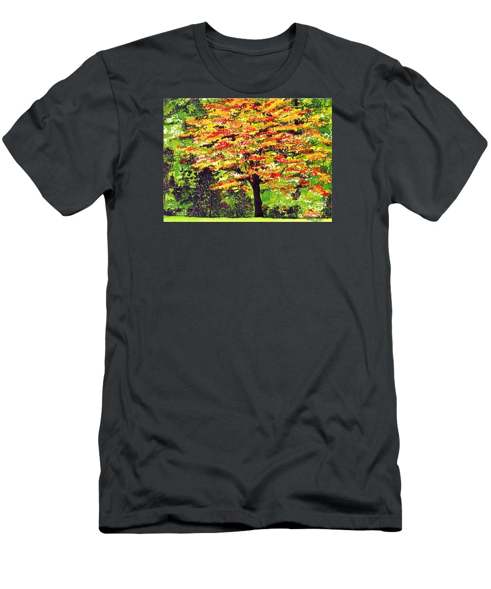 Fine Art Men's T-Shirt (Athletic Fit) featuring the painting Autumn Splendor by Patricia Griffin Brett