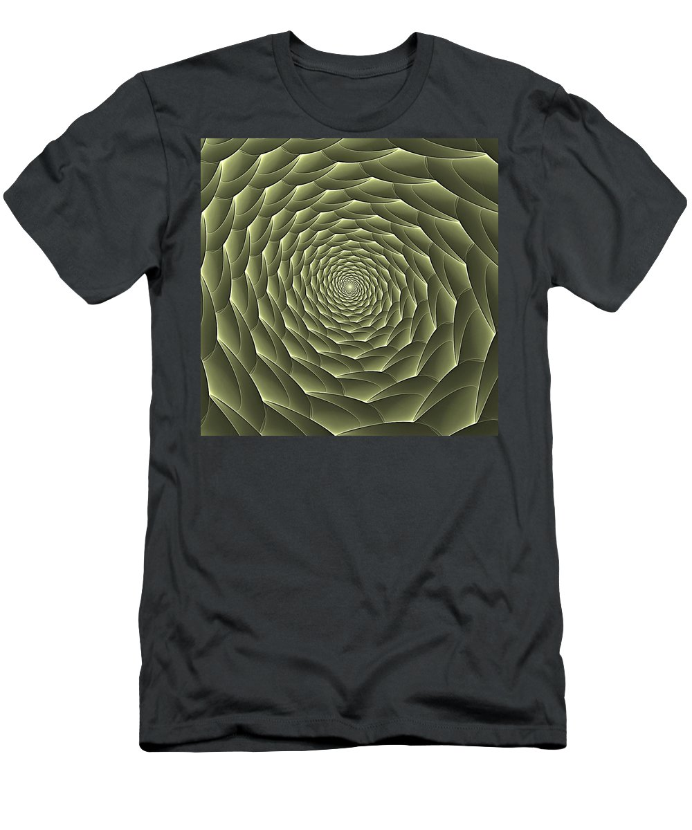 Spiral Descent Men's T-Shirt (Athletic Fit) featuring the digital art Avacado Vertigo Vortex by Doug Morgan