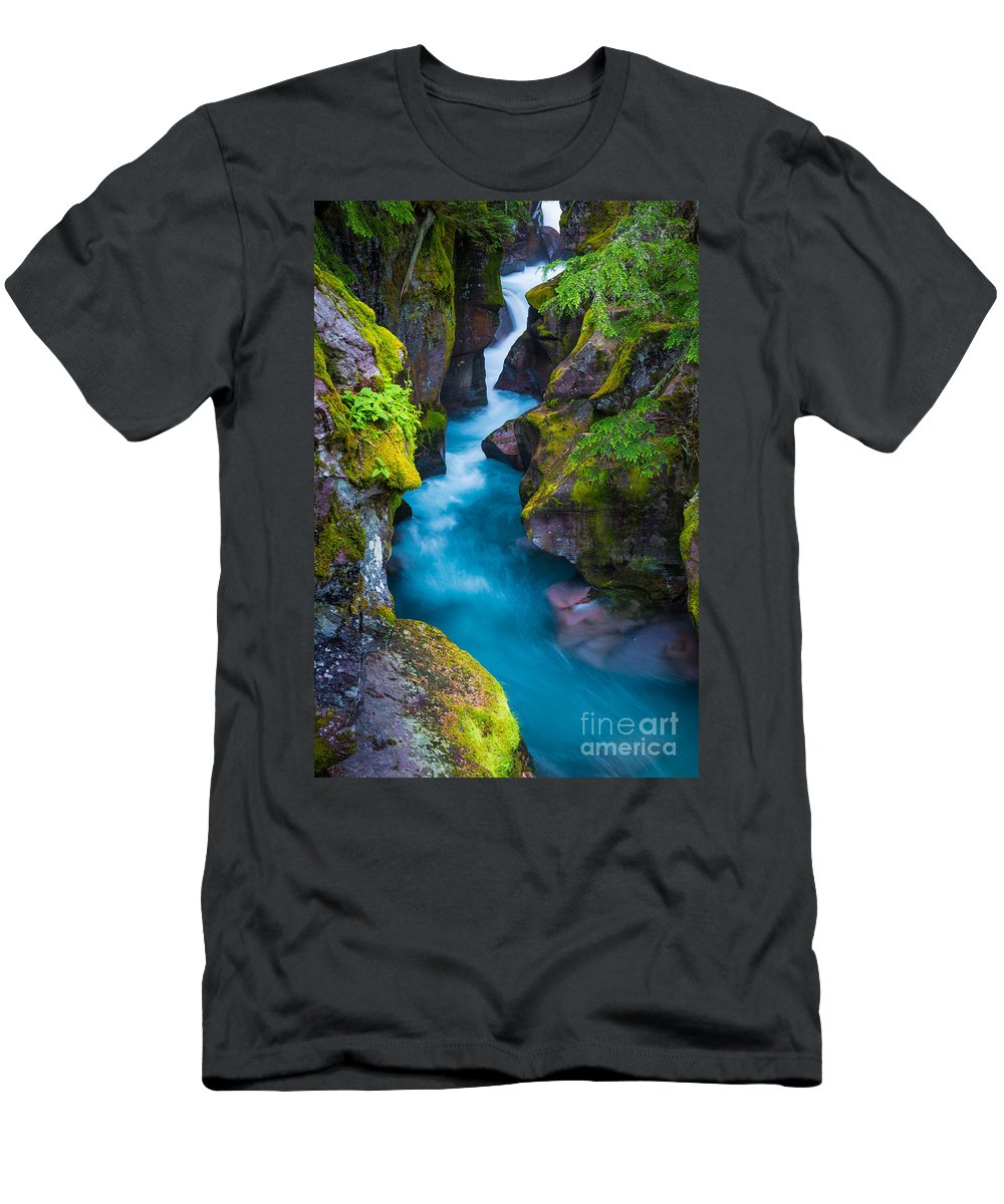 America Men's T-Shirt (Athletic Fit) featuring the photograph Avalanche Creek by Inge Johnsson