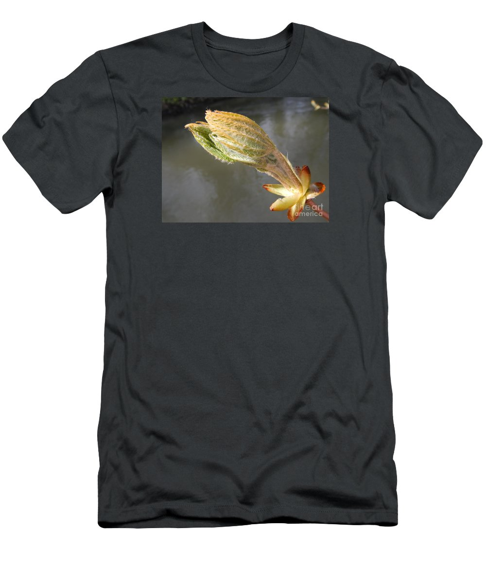Spring Men's T-Shirt (Athletic Fit) featuring the photograph Awake by Loreta Mickiene