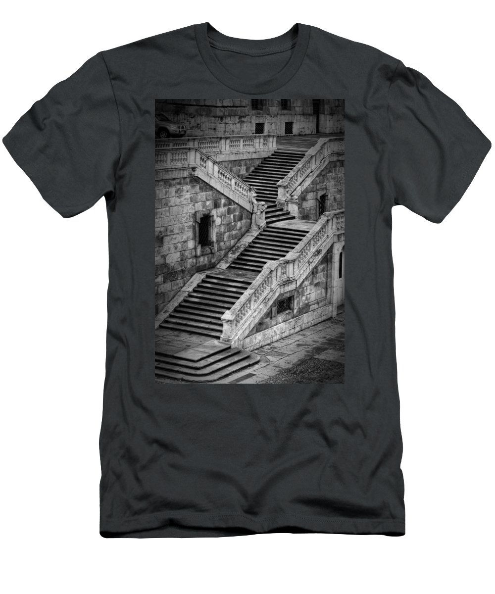 Ancient Men's T-Shirt (Athletic Fit) featuring the photograph Back Entrance by Joan Carroll