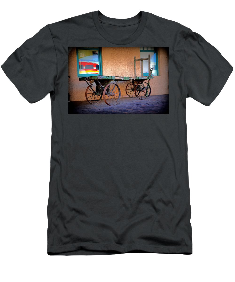 Baggage Cart Men's T-Shirt (Athletic Fit) featuring the photograph Baggage Cart by Lynn Sprowl