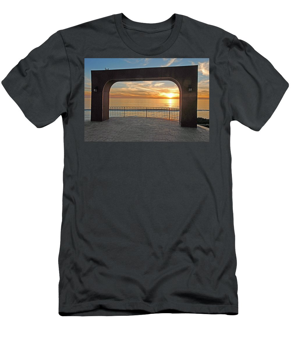 Baja Men's T-Shirt (Athletic Fit) featuring the photograph Baja California Rt 1 Coast 4 by Jeff Brunton