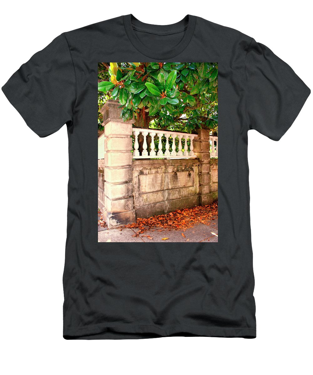 Charleston Men's T-Shirt (Athletic Fit) featuring the photograph Balustrade Charleston Sc by William Dey
