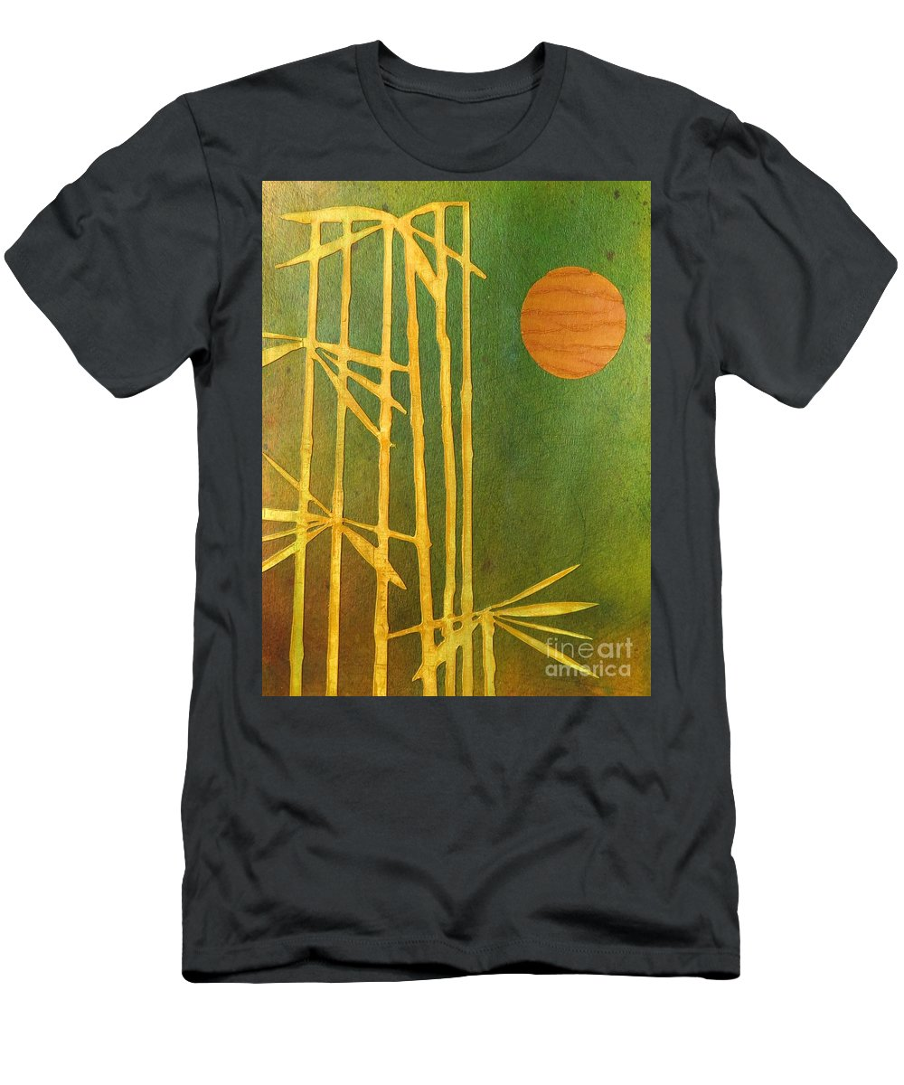 Watercolor Men's T-Shirt (Athletic Fit) featuring the painting Bamboo Moon by Desiree Paquette
