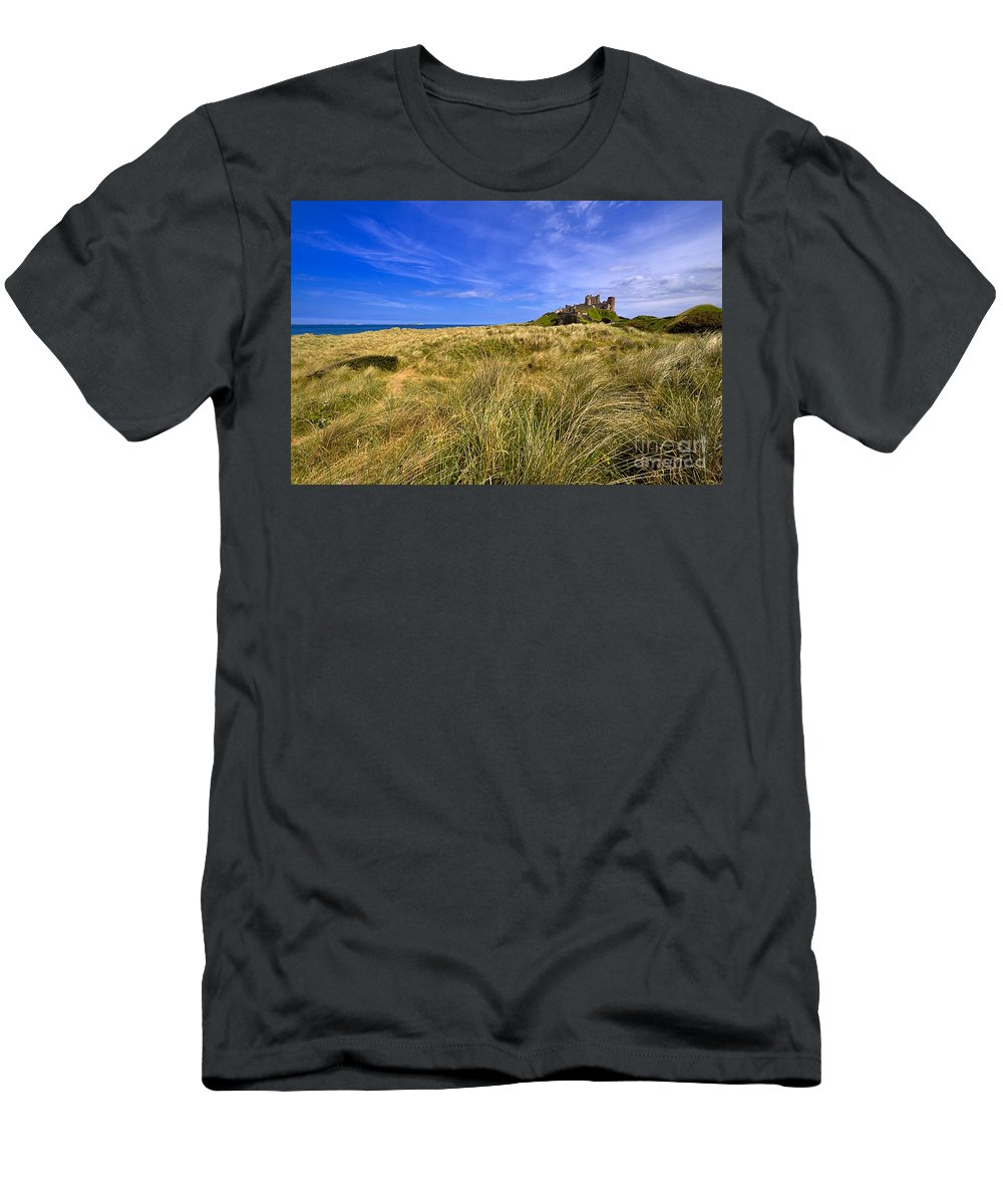 Travel Men's T-Shirt (Athletic Fit) featuring the photograph Bamburgh Castle by Louise Heusinkveld