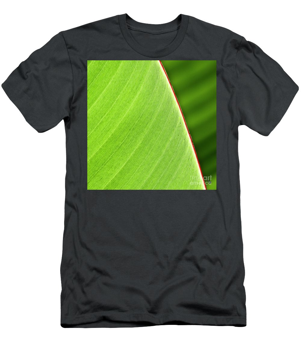 Leaf Men's T-Shirt (Athletic Fit) featuring the photograph Banana Leaf by Heiko Koehrer-Wagner