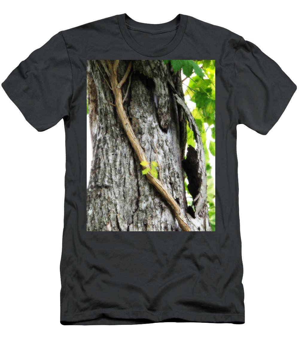 Tree Men's T-Shirt (Athletic Fit) featuring the photograph Bashful by Michele Nelson
