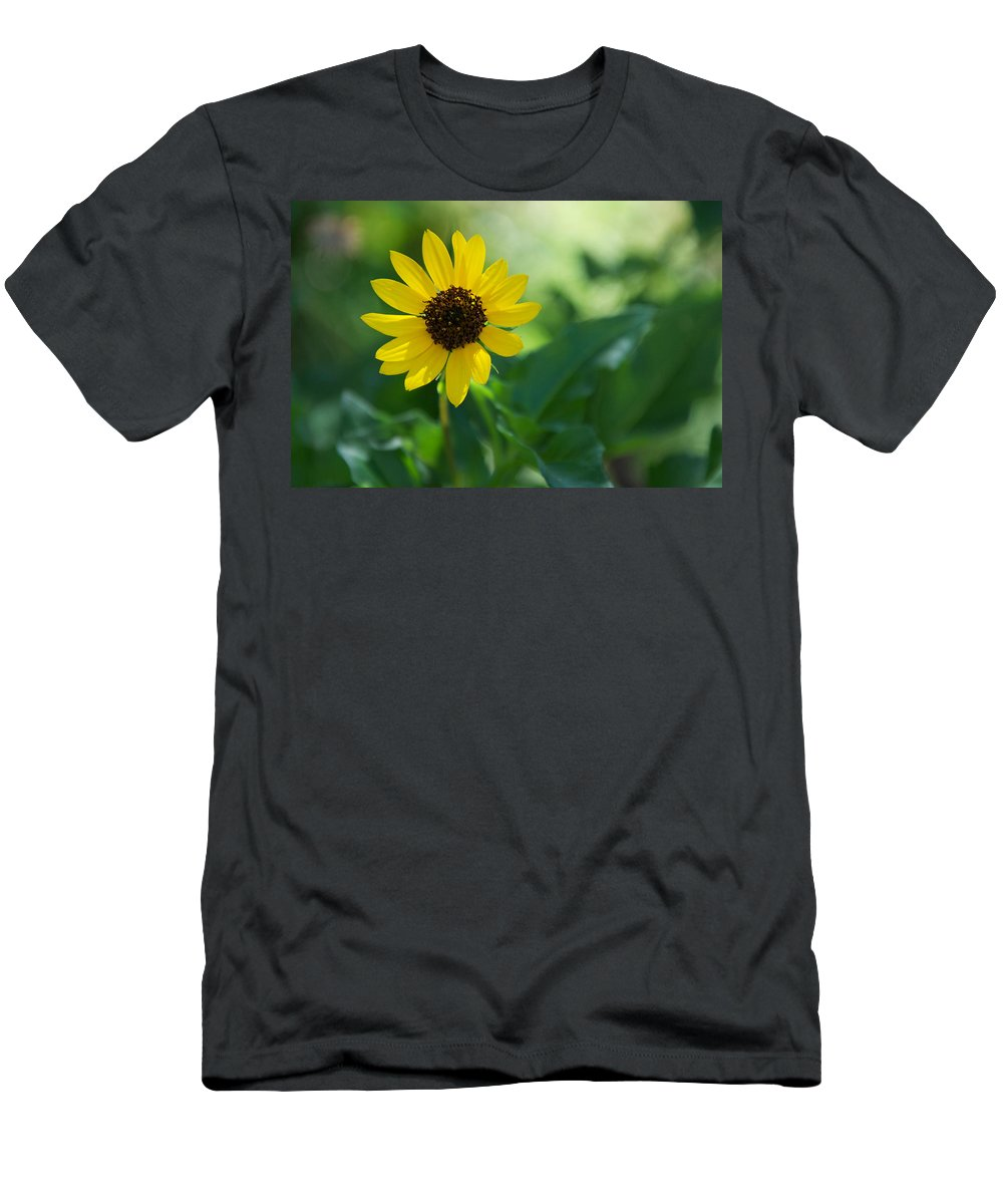 Beach Sunflower Men's T-Shirt (Athletic Fit) featuring the photograph Beach Sunflower by Randi Kuhne