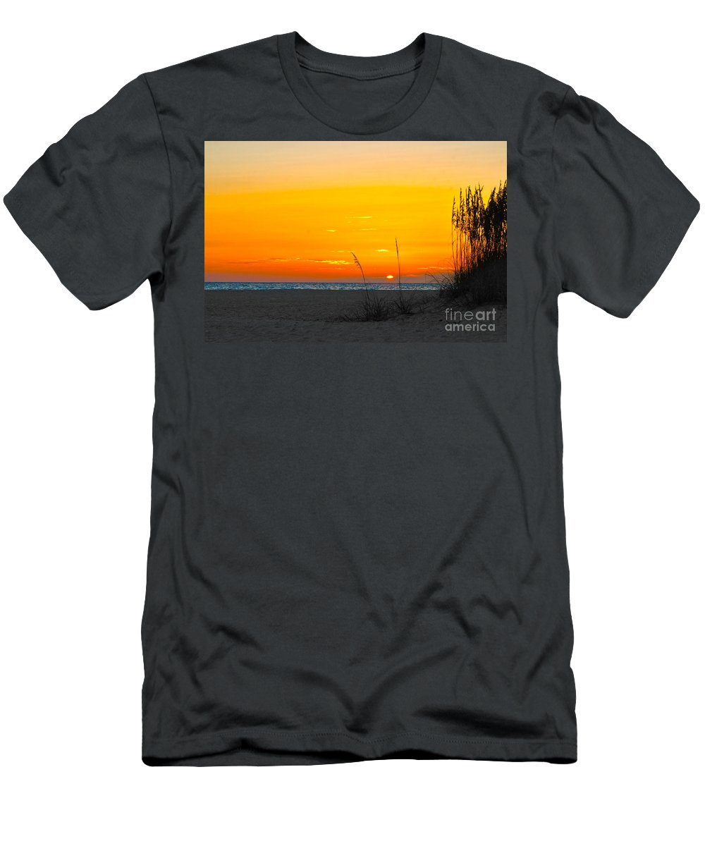 Florida Men's T-Shirt (Athletic Fit) featuring the photograph Beach Sunset by Ryan Burton