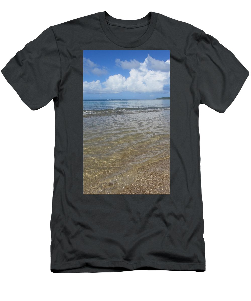 Beach Men's T-Shirt (Athletic Fit) featuring the photograph Beach Waves Tall by Anita Burgermeister