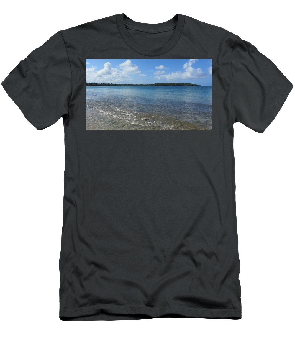 Beach Men's T-Shirt (Athletic Fit) featuring the photograph Beach Waves Wide by Anita Burgermeister