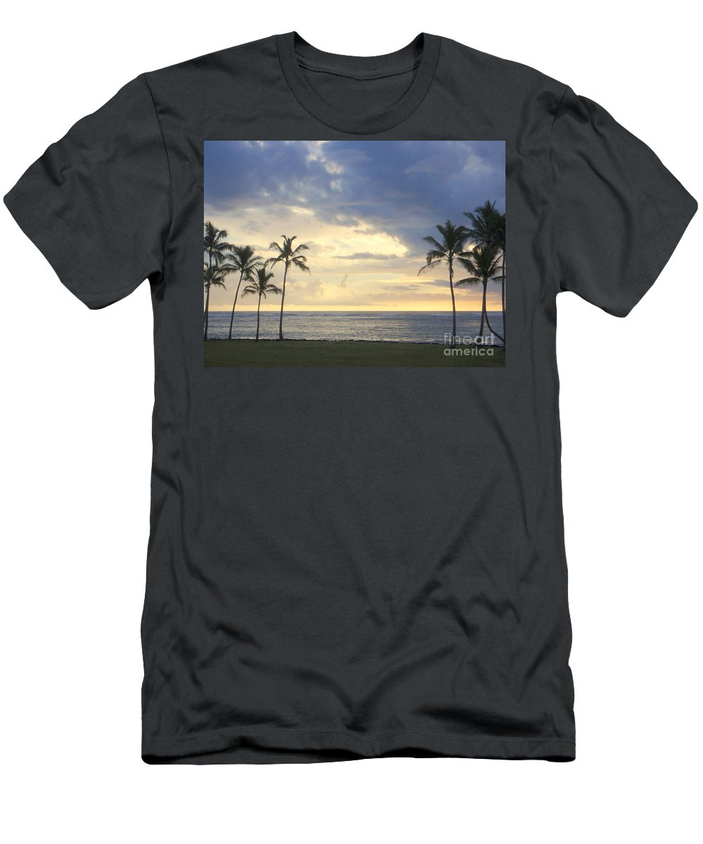 Beach Men's T-Shirt (Athletic Fit) featuring the photograph Beachwalk Series - No 18 by Mary Deal