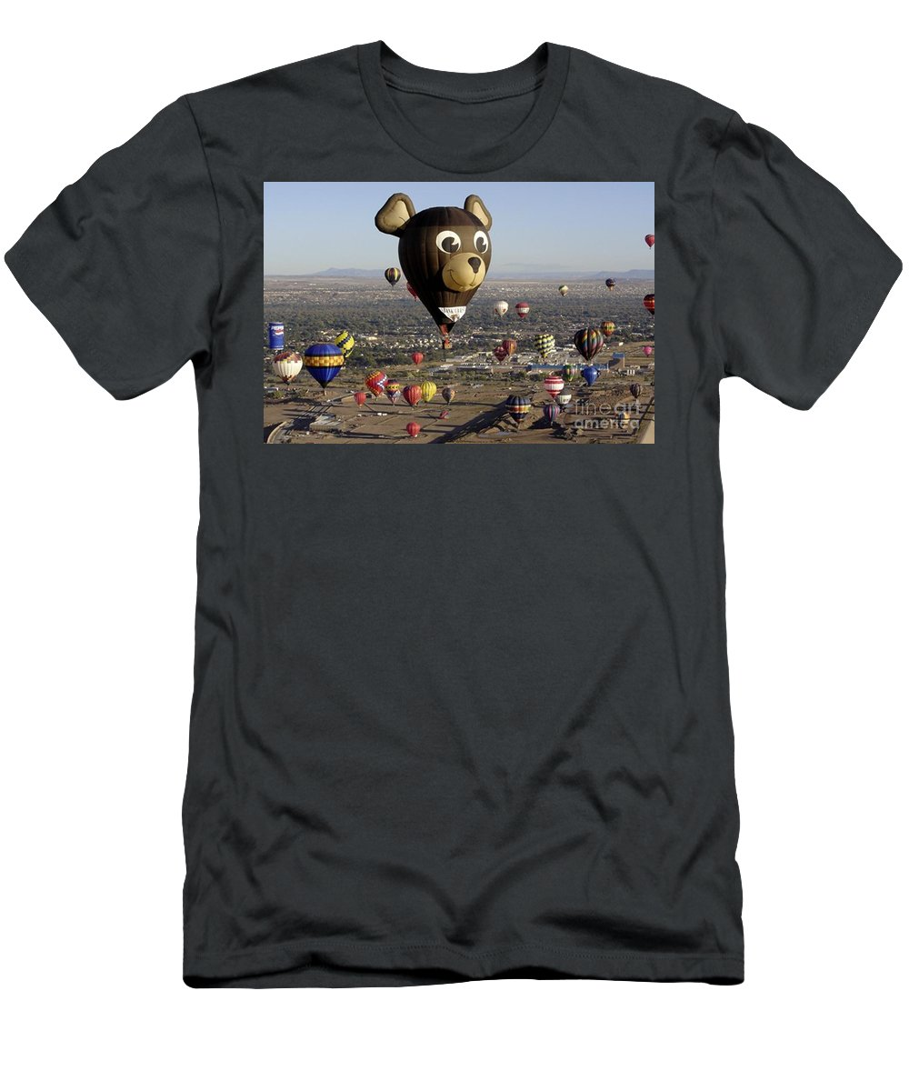 Albuquerque Men's T-Shirt (Athletic Fit) featuring the photograph Bear by Mary Rogers