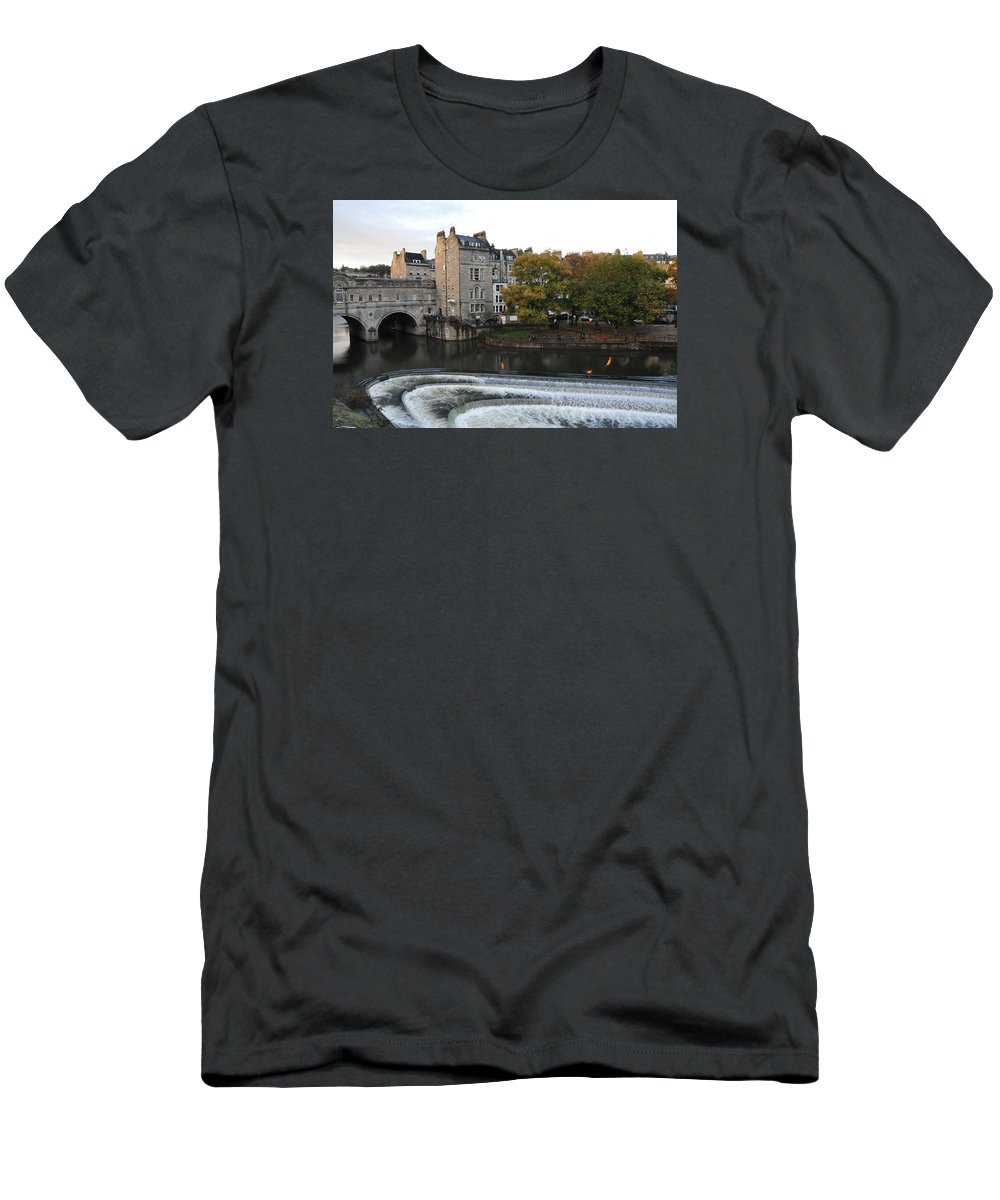 Bath Men's T-Shirt (Athletic Fit) featuring the photograph Beautiful Bath by Laura Lowrey