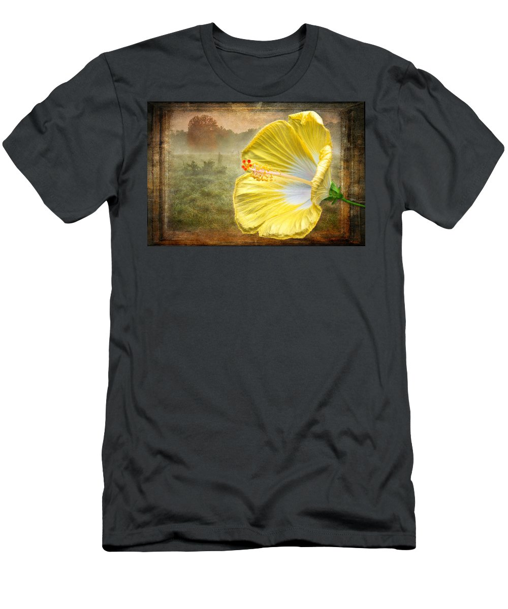 Hibiscus Men's T-Shirt (Athletic Fit) featuring the photograph Beauty Served Two Ways by Garvin Hunter