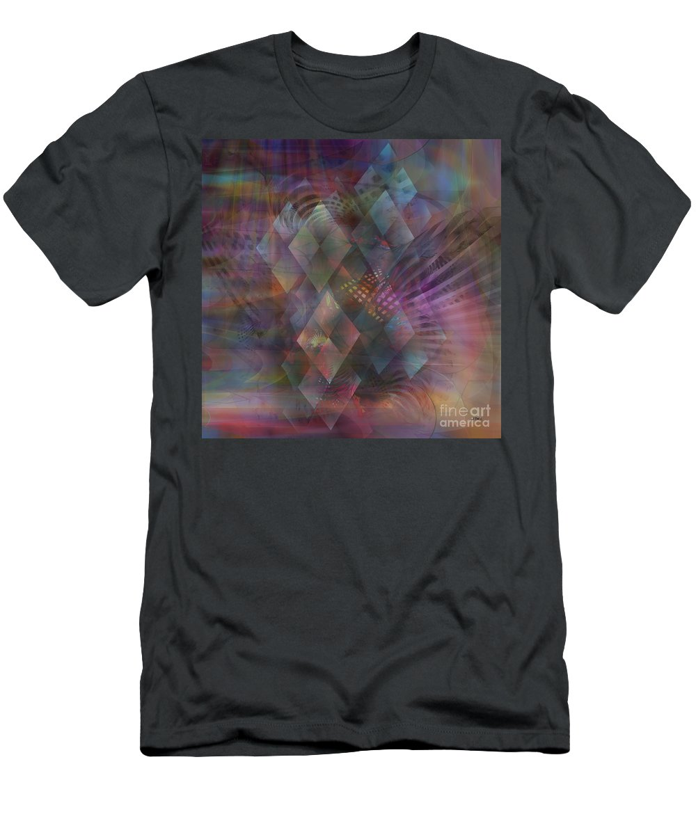 Bedazzled Men's T-Shirt (Athletic Fit) featuring the digital art Bedazzled - Square Version by John Beck