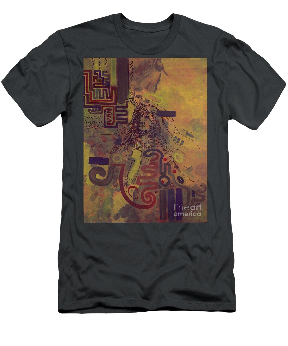 Abstract Men's T-Shirt (Athletic Fit) featuring the painting Before And After by Tonya Henderson