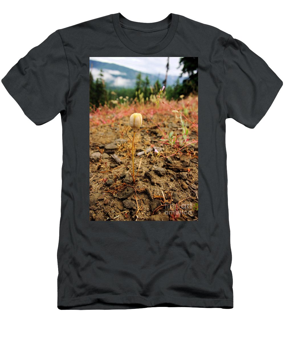 Plants Men's T-Shirt (Athletic Fit) featuring the photograph Before The Blossom by Jeff Swan