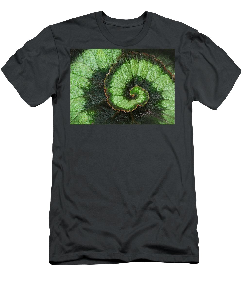Begonia Men's T-Shirt (Athletic Fit) featuring the photograph Begonia Leaf 2 by Dave Mills