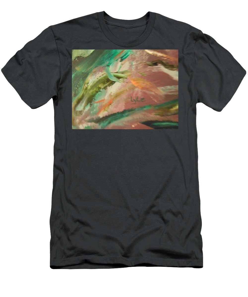 Abstract Men's T-Shirt (Athletic Fit) featuring the painting Bend Me Over by Lord Frederick Lyle Morris - Disabled Veteran