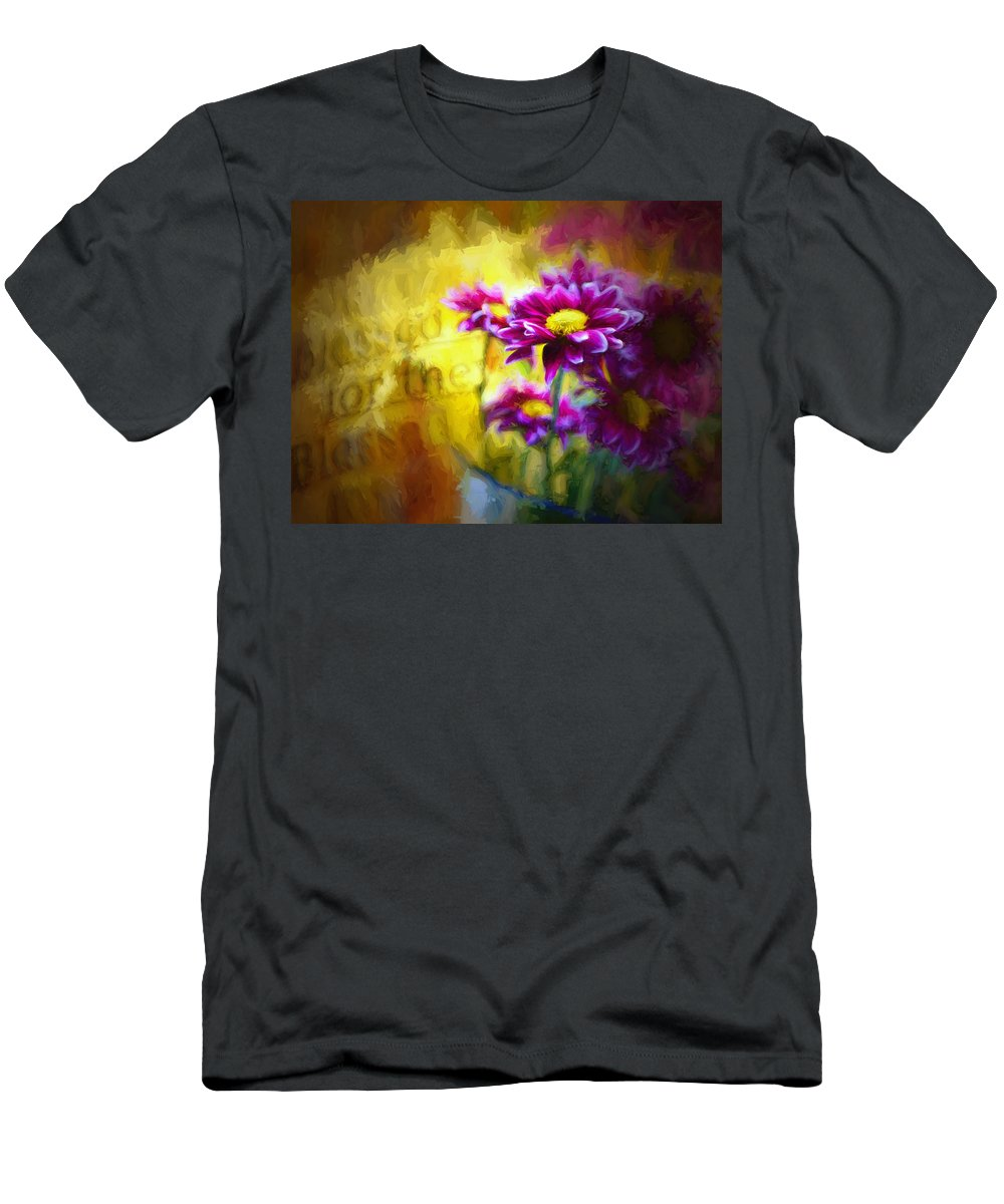 Floral Men's T-Shirt (Athletic Fit) featuring the digital art Bible Passages Iv by Tina Baxter