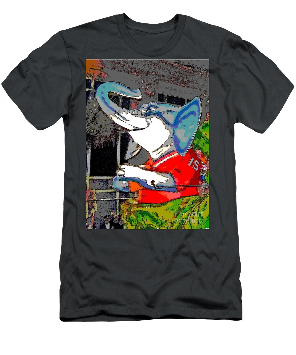 Digital Art Men's T-Shirt (Athletic Fit) featuring the photograph Big Al - Bama's Mascot by Marian Bell